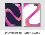 spiral  round shapes  lines... | Shutterstock .eps vector #689466268