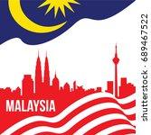 vector illustration of malaysia ...   Shutterstock .eps vector #689467522