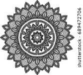 figure mandala for coloring... | Shutterstock .eps vector #689472706
