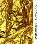 holographic color wrinkled foil.... | Shutterstock . vector #689472772