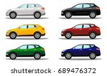 set of crossover vehicles in a... | Shutterstock . vector #689476372
