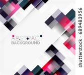 abstract blocks template design ... | Shutterstock . vector #689483956