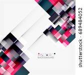 abstract blocks template design ... | Shutterstock . vector #689484052