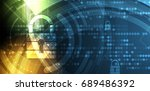 cyber security and information... | Shutterstock .eps vector #689486392