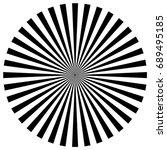 circular pattern of radial ... | Shutterstock . vector #689495185
