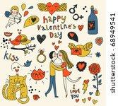 Vector Valentine Doodles Set I...