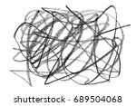 chaos graphite pencil texture ... | Shutterstock . vector #689504068