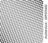 geometric black and white... | Shutterstock . vector #689505682