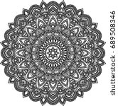 figure mandala for coloring... | Shutterstock .eps vector #689508346