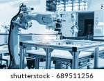 industrial machine and factory... | Shutterstock . vector #689511256