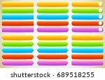 button  banner shapes ... | Shutterstock . vector #689518255