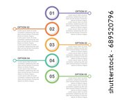 circle infographic template... | Shutterstock .eps vector #689520796