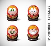 matrioshka stile smileys