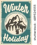 winter holidays travel... | Shutterstock .eps vector #689524555