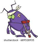 cartoon sick bug | Shutterstock .eps vector #689528935