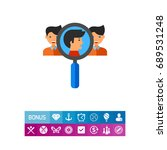 team creation concept icon with ... | Shutterstock .eps vector #689531248