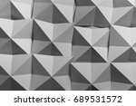 geometric shapes of paper ... | Shutterstock . vector #689531572