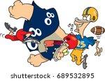 Cartoon Football Player...