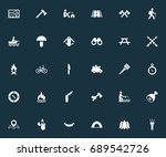 vector illustration set of... | Shutterstock .eps vector #689542726