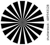 circular pattern of radial ... | Shutterstock . vector #689543128