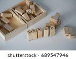 letters forming de word learn. | Shutterstock . vector #689547946