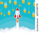 Business Start Up Rocket Launc...