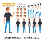 casual man character... | Shutterstock .eps vector #689558812