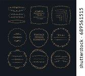 decorative circle frames. ... | Shutterstock . vector #689561515