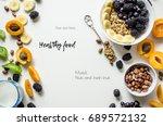 creative layout of fresh summer ... | Shutterstock . vector #689572132