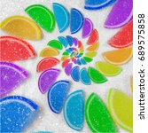 Abstract Spiral Fruit Jelly...