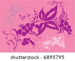 illustration with purple fruits ... | Shutterstock .eps vector #6895795