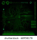 abstract design science and... | Shutterstock .eps vector #68958178