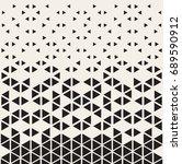 halftone pattern. geometric... | Shutterstock .eps vector #689590912