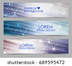 set of medical banners   Shutterstock .eps vector #689595472