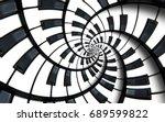 piano keyboard printed music... | Shutterstock . vector #689599822