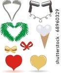 hearts from fir branches ...   Shutterstock .eps vector #68960329