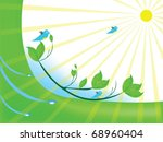 abstract vector with light | Shutterstock .eps vector #68960404