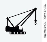 crain icon vector | Shutterstock .eps vector #689617066