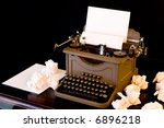 A Vaintage Typewriter With...