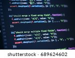 software computer programming... | Shutterstock . vector #689624602