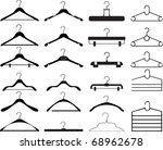 clothes hanger collection | Shutterstock .eps vector #68962678