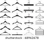 clothes hanger collection | Shutterstock .eps vector #68962678