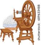 illustration of spinning wheel... | Shutterstock .eps vector #689633488