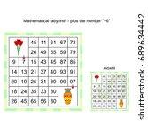 worksheet.  game for kids.... | Shutterstock .eps vector #689634442