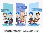vector cartoon illustration of... | Shutterstock .eps vector #689635312