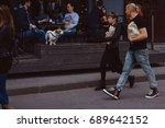 street people | Shutterstock . vector #689642152