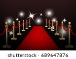 realistic vector red event... | Shutterstock .eps vector #689647876