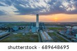 natural gas combined cycle... | Shutterstock . vector #689648695