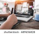 freelance photo editor  artist  ... | Shutterstock . vector #689656828