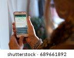 rosario  argentina   august 2 ... | Shutterstock . vector #689661892